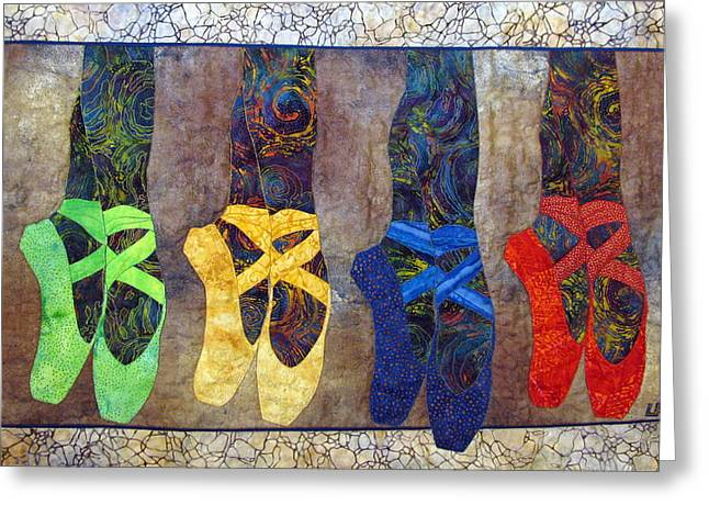 Dancer Tapestries - Textiles Greeting Cards - Born to Dance Greeting Card by Lynda K Boardman
