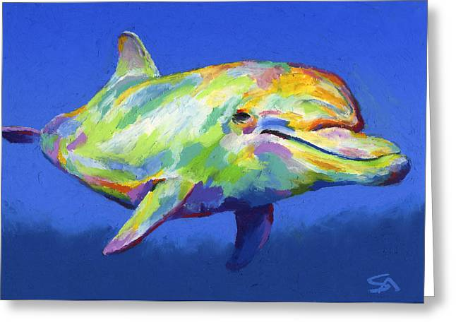 Sea Pastels Greeting Cards - Born To Live Wild Greeting Card by Stephen Anderson