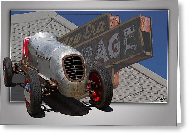 Salt Flat Pictures Greeting Cards - Born To Race Greeting Card by Nick Gray