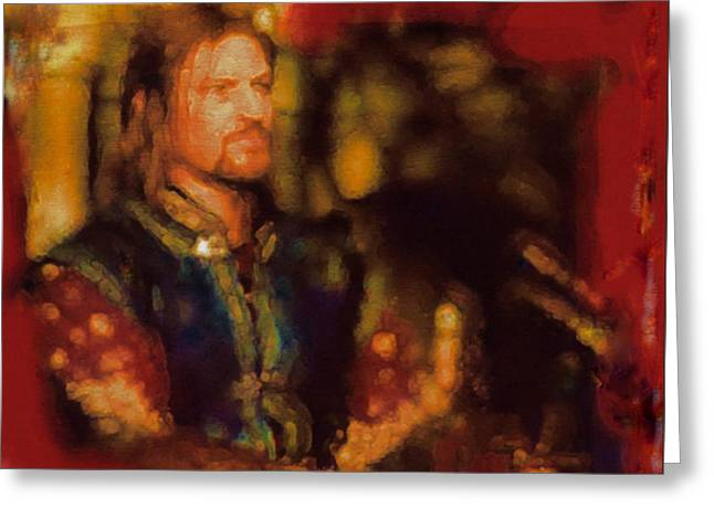 Boromir Greeting Cards - Boromir Greeting Card by Janice MacLellan