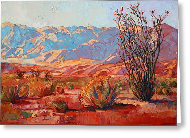 Ocotillo Gold Greeting Card by Erin Hanson