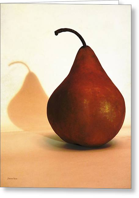 Beurre Bosc Greeting Cards - Bosc Pear Sees Its Shadow Greeting Card by Shawna  Rowe