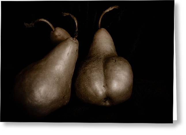 Bosc Greeting Cards - Bosc Pears 1 Greeting Card by Paul Haist