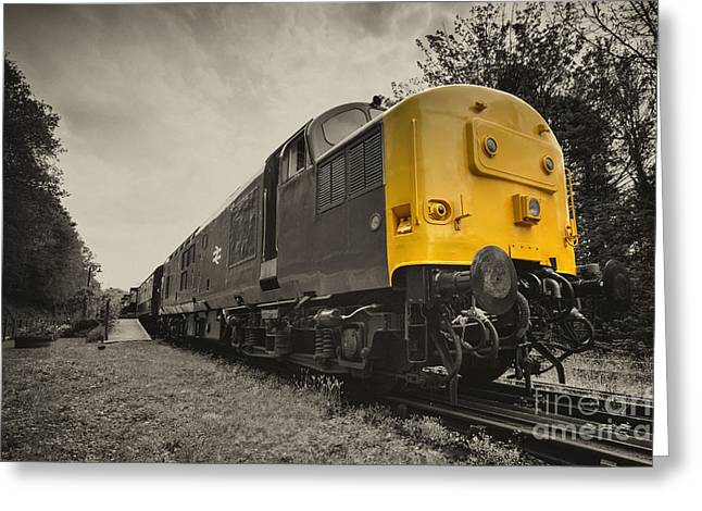 Electric Train Greeting Cards - Boscarne Growler  Greeting Card by Rob Hawkins