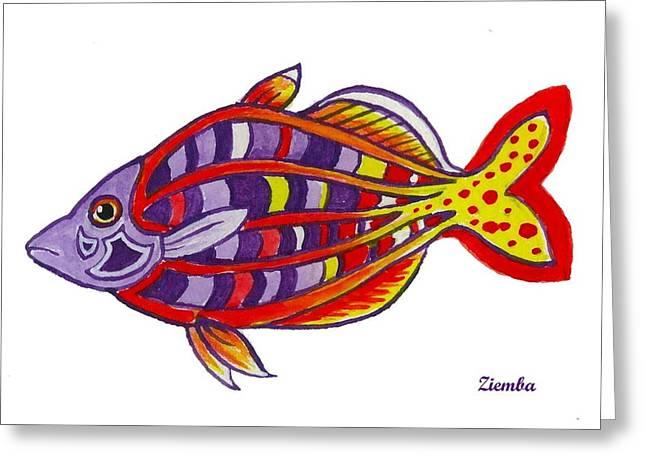 Lori Ziemba Greeting Cards - Bosemans Rainbowfish Greeting Card by Lori Ziemba