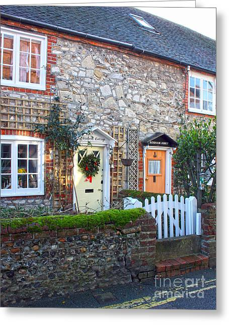 18th Century Greeting Cards - Bosham Cottages West Sussex Greeting Card by Terri  Waters