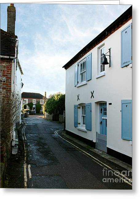 18th Century Greeting Cards - Bosham Hight Street West Sussex Greeting Card by Terri  Waters