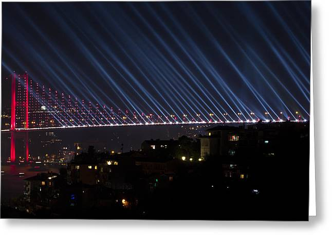 Bosphorus Greeting Cards - Bosphorus Bridge Greeting Card by Ugur Ugurlu