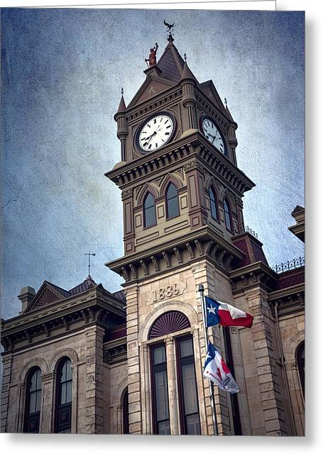 Italianate Greeting Cards - Bosque County Courthouse Greeting Card by Joan Carroll