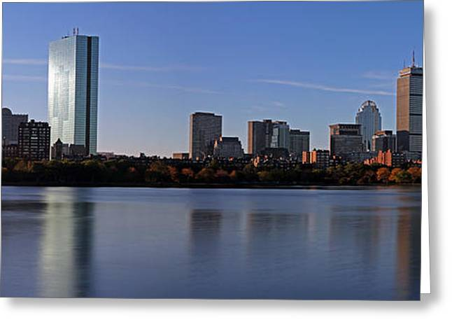Boston Skyline Photo Greeting Cards - Boston at Large Greeting Card by Juergen Roth