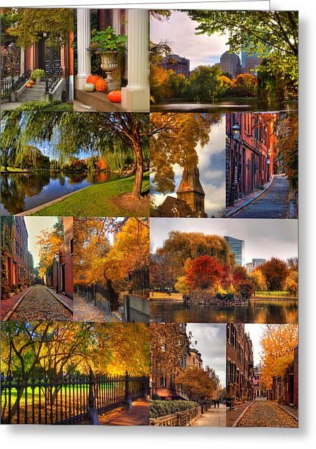 Boston Autumn Days Greeting Card by Joann Vitali