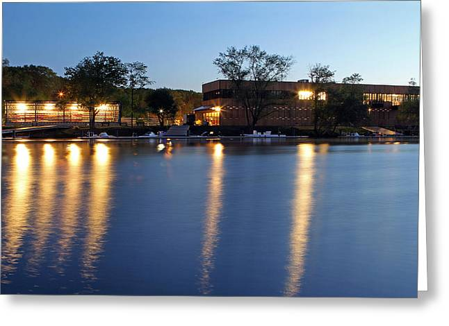 Rowing Crew Greeting Cards - Boston Boathouse Greeting Card by Juergen Roth