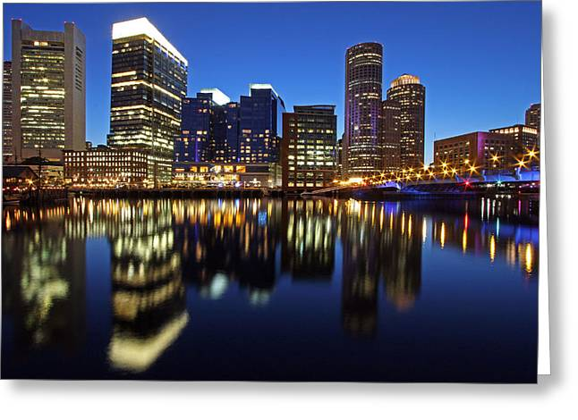Boston Bright Greeting Card by Juergen Roth