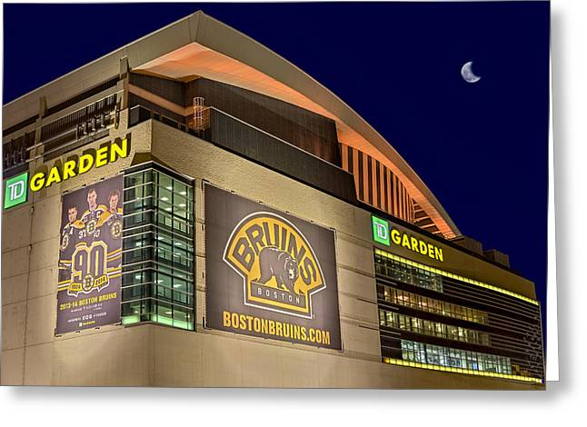 Celtics Basketball Greeting Cards - Boston Bruins TD Gardens Greeting Card by Susan Candelario