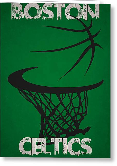 Celtics Basketball Greeting Cards - Boston Celtics Hoop Greeting Card by Joe Hamilton