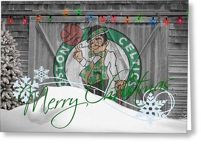 Dunk Photographs Greeting Cards - Boston Celtics Greeting Card by Joe Hamilton