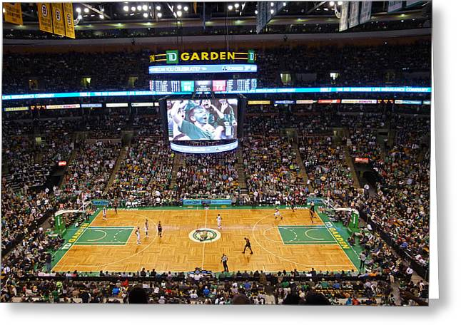 Celtics Basketball Greeting Cards - Boston Celtics Greeting Card by Juergen Roth