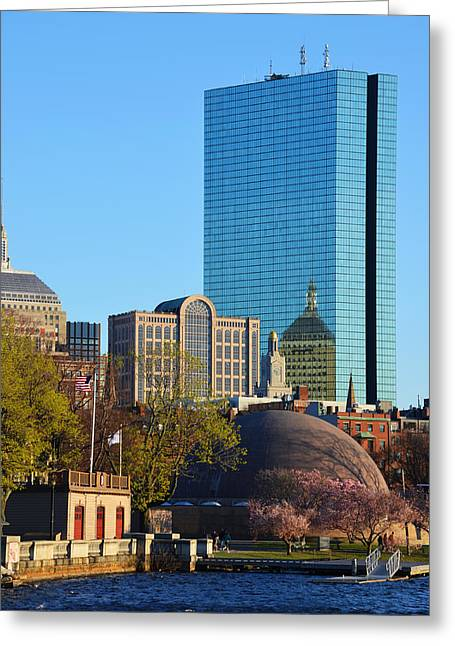 Boston Ma Greeting Cards - Boston Charles River in the Spring Greeting Card by Toby McGuire