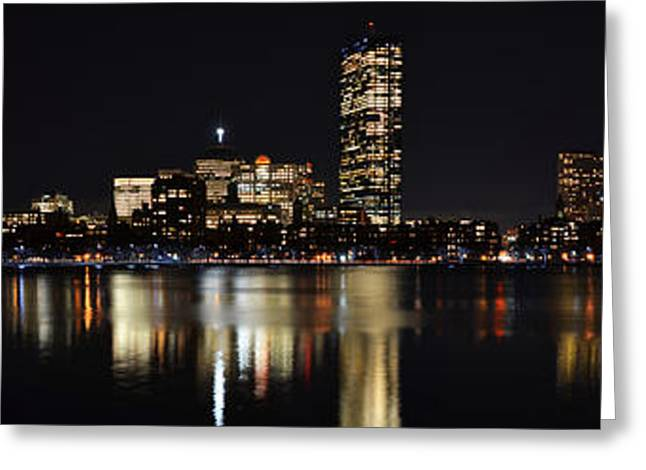 Charles River Greeting Cards - Boston Charles River Panorama Greeting Card by Toby McGuire