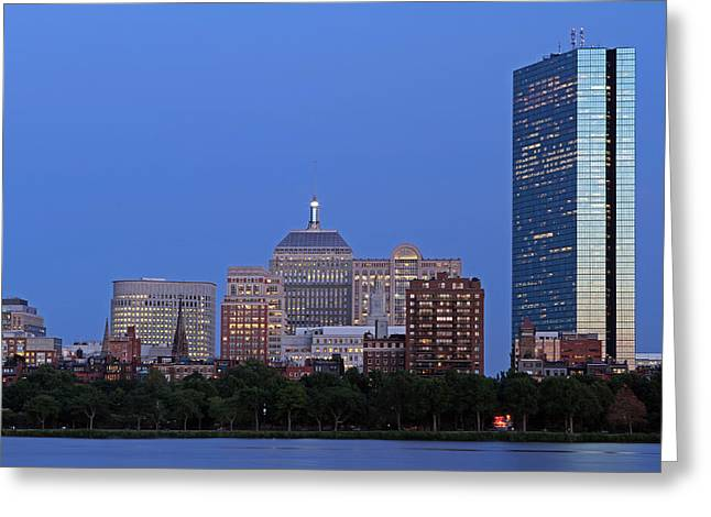 Boston Pictures Greeting Cards - Boston Charles River Skyline Greeting Card by Juergen Roth