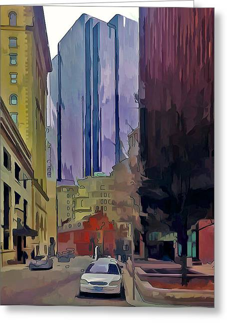 City Art Greeting Cards - Boston City Centre 2 Greeting Card by Yury Malkov