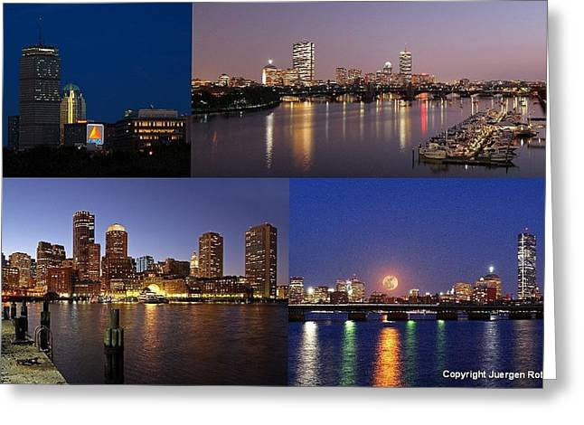 Boston Photos Greeting Cards - Boston City Skyline Greeting Card by Juergen Roth