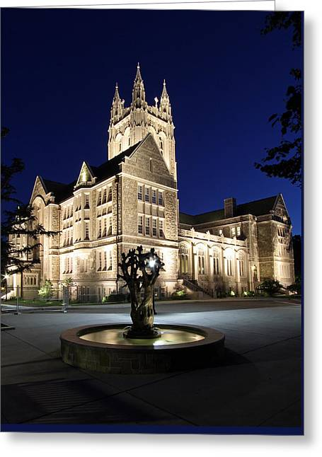 Boston College Gasson Hall Greeting Card by Juergen Roth