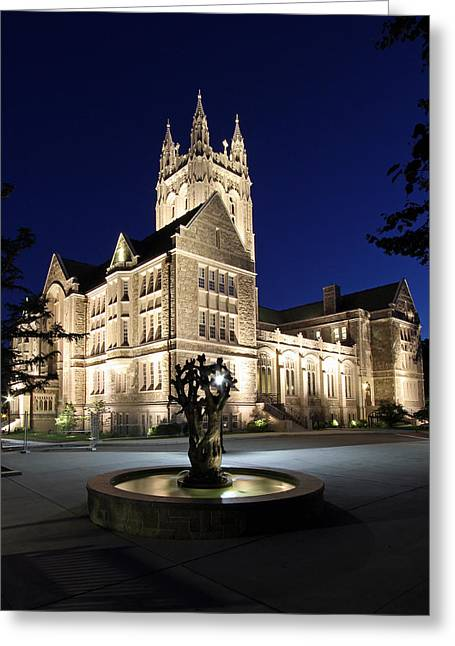 Beantown Greeting Cards - Boston College Gasson Hall Greeting Card by Juergen Roth