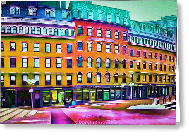 Live Digital Greeting Cards - Boston Colors 1 Greeting Card by Yury Malkov
