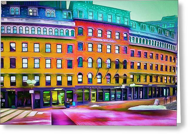 Boston Colors 1 Greeting Card by Yury Malkov