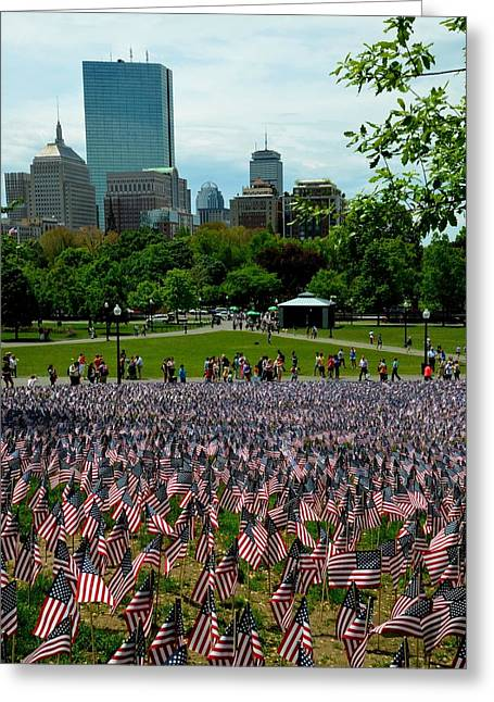 Boston Ma Greeting Cards - Boston Common Memorial Day Greeting Card by Toby McGuire
