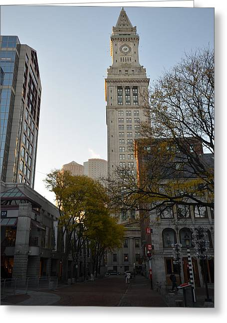Oxford. Oxford Ma. Massachusetts Greeting Cards - Boston Custom House Greeting Card by Toby McGuire