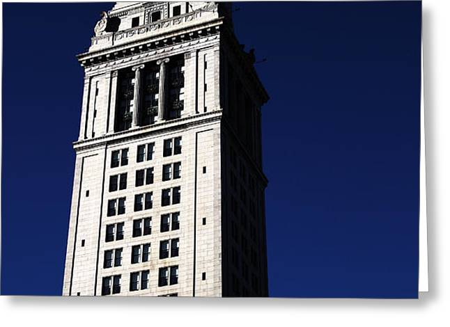 Boston Customs House Greeting Card by John Rizzuto