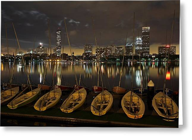 Charles River Greeting Cards - Boston Dark Skies Greeting Card by Juergen Roth