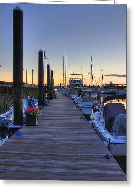 Boston Dock Sunrise Greeting Card by Joann Vitali