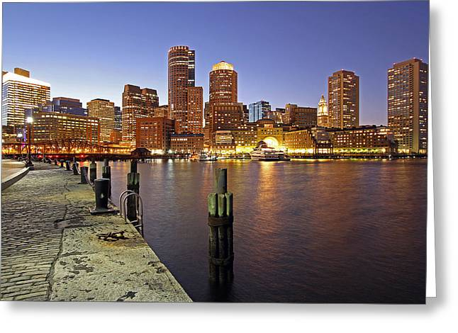 Boston Photos Greeting Cards - Boston Fan Pier and Financial District Greeting Card by Juergen Roth