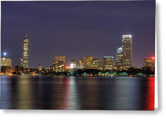 Moonglow Greeting Cards - Boston from Memorial Drive Greeting Card by Joann Vitali