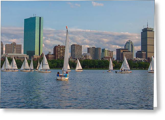 Boston Ma Greeting Cards - Boston from the Charles Greeting Card by Brian MacLean