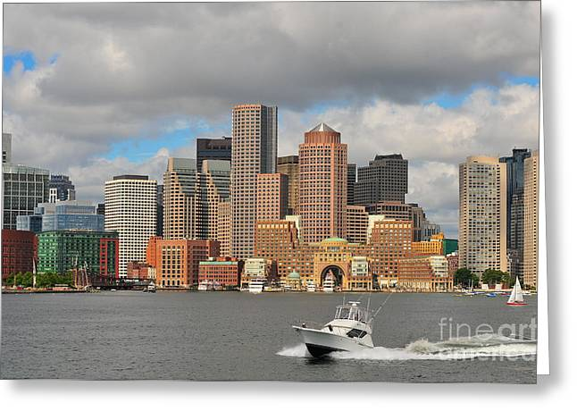 Beantown Greeting Cards - Boston Harbor  Greeting Card by Catherine Reusch  Daley