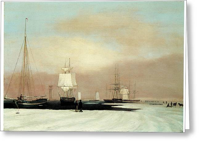 Sea Going Greeting Cards - Boston Harbor Greeting Card by John Blunt