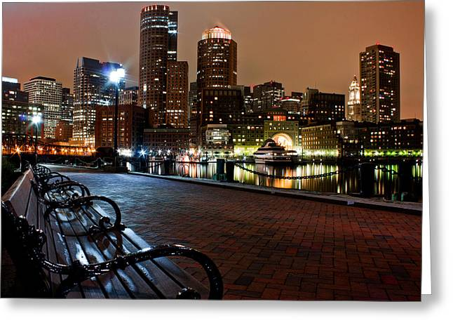 Tea Party Greeting Cards - Boston Harbor  Greeting Card by John McGraw