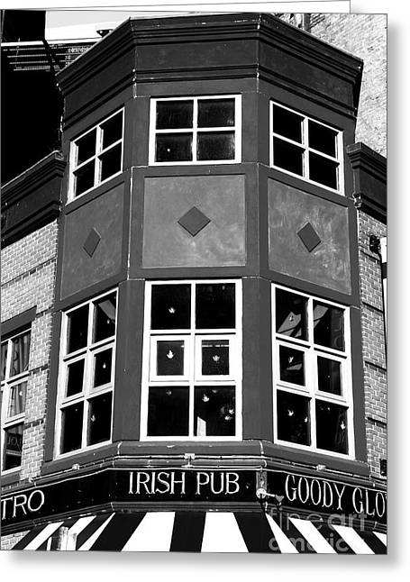 Americana Pictures Greeting Cards - Boston Irish Pub Greeting Card by John Rizzuto
