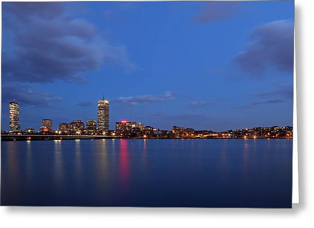 Charles River Greeting Cards - Boston Landmarks and Cisco Sign Greeting Card by Juergen Roth