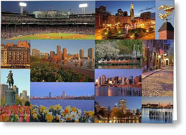 Boston Landmarks Photography  Greeting Card by Juergen Roth