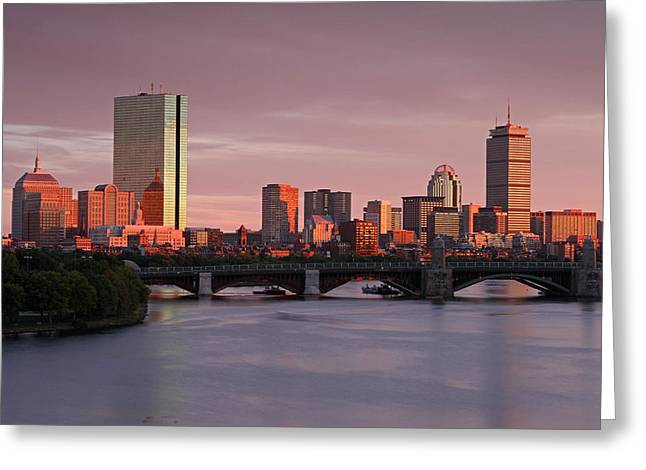 Boston Photos Greeting Cards - Boston Last Light Greeting Card by Juergen Roth