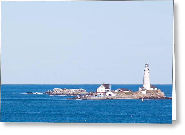 Boston Lighthouse Greeting Card by Nomad Art And  Design
