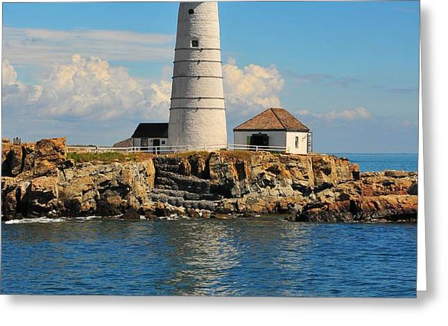 Boston Light Greeting Card by Catherine Reusch  Daley