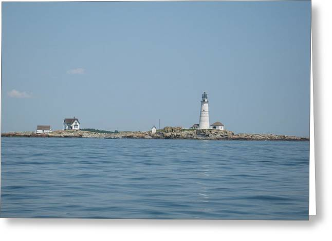 Boston Light Greeting Cards - Boston Light Greeting Card by Laura Lee Zanghetti
