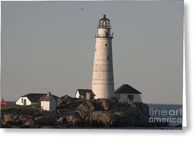 Massachusetts Pyrography Greeting Cards - Boston Lighthouse Greeting Card by Jay McDaniel