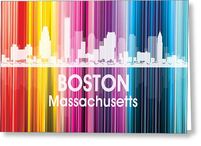 Industrial Icon Greeting Cards - Boston MA 2 Squared Greeting Card by Angelina Vick